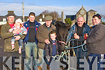 Declan, Emma O'Sullivan Glencar, John Cahillane Killorglin, Florence O'O'Sullivan Glencar, Patrick Moloney Listowel, Pat Fitzgerald Ballyheigue and Patrick Murphy Causeway trading at the Killorglin Horse fair on Saturday