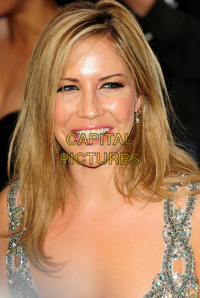 HEIDI RANGE of SUGABABES .Pre-Wimbledon Party held at The Roof Gardens, Kensington, London, England, UK, June 17th 2010..Wimbledon portrait headshot smiling beaded straps cut out .CAP/CJ.©Chris Joseph/Capital Pictures.