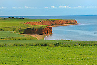 Shoreline cliffs along the Northumberland Strait