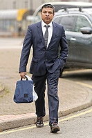 """COPY BY TOM BEDFORD<br /> Pictured: Kamrul Islam arrives at Merthyr Tydfil Crown Court, Wales, UK. Tuesday 06 February 2018<br /> Re: A trial of chef Kamrul Islam who attacked a client with chilli powder is due to start Merthyr Tydfil Crown Court.<br /> David Evans was at the Prince of Bengal restaurant on Saturday night when the incident took place.<br /> The 46-year-old was out for dinner with his wife Michelle when they were asked by a waiter if they were enjoying their curry.<br /> The couple said they told the waiter their meal was """"tough and rubbery"""" and he passed the complaint onto the head chef.<br /> Michelle said chilli powder was then thrown into her husband's eyes and he was taken to hospital."""