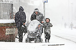 Pix: Shaun Flannery/sf-pictures.com..COPYRIGHT PICTURE>>SHAUN FLANNERY>01302-570814>>07778315553>>..2nd February 2009..........New Deal for Communities (NDC) The Voice.Snow blizzard on Netherhall Road.