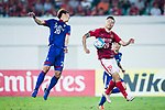 Guangzhou Forward Gao Lin (R) fights for the ball with Suwon Forward Yu Hanchao (L) during the AFC Champions League 2017 Group G match between Guangzhou Evergrande FC (CHN) vs Suwon Samsung Bluewings (KOR) at the Tianhe Stadium on 09 May 2017 in Guangzhou, China. Photo by Yu Chun Christopher Wong / Power Sport Images