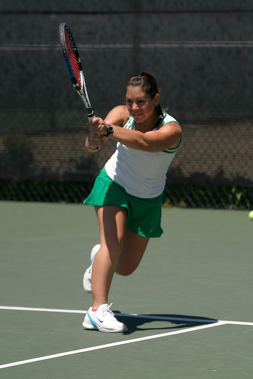 SAN DIEGO, CA - APRIL 19:  Mylene Martin of the USF Dons during day three of the West Coast Conference Tennis Championships on April 19, 2009 at the Barnes Tennis Center in San Diego, California.