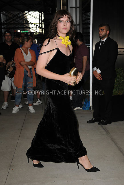 www.acepixs.com<br /> September 8, 2016  New York City<br /> <br /> Hari Nef attending the The Daily Front Row's 4th Annual Fashion Media Awards at Park Hyatt New York on September 8, 2016 in New York City. <br /> <br /> <br /> Credit: Kristin Callahan/ACE Pictures<br /> <br /> <br /> Tel: 646 769 0430<br /> Email: info@acepixs.com