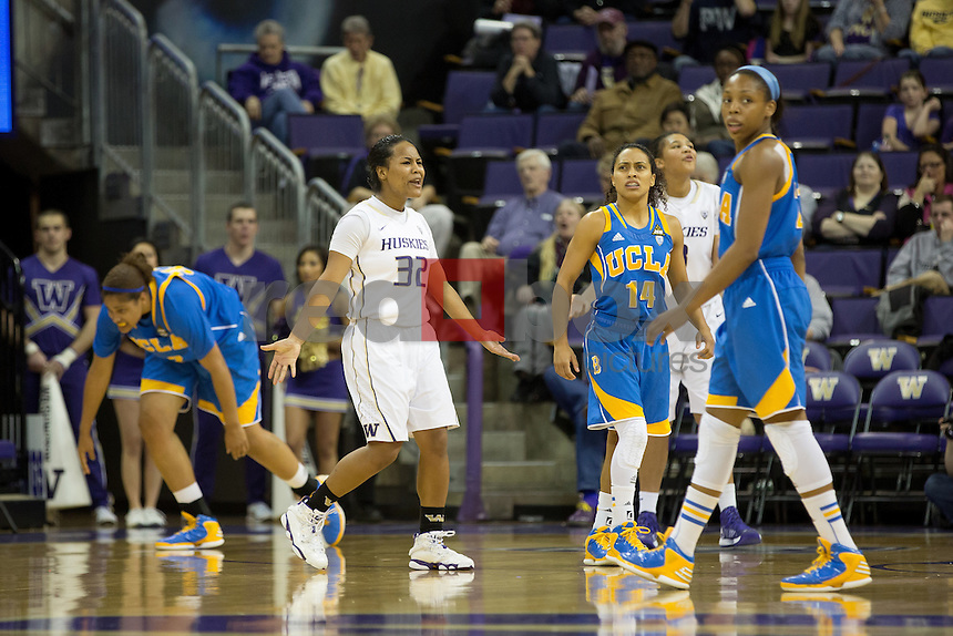The University of Washington women's basketball team plays UCLA at Alaska Airlines Arena on February 8, 2013. (Photo by Scott Eklund /Red Box Pictures)