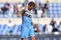 Ciro Immobile of Lazio looks dejected during the Serie A 2018/2019 football match between SS Lazio and AC Chievo Verona at stadio Olimpico, Roma, April, 20, 2019 <br /> Photo Antonietta Baldassarre / Insidefoto