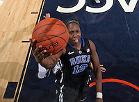 Duke guard Chelsea Gray (12) shoots the ball during an NCAA college basketball game in Charlottesville, Va. Duke defeated Virginia 62-41...