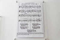 Pictured: A sheet of music for Sospan Fach (little saucepan) a welsh song which has been associated with the Scarlets at their home ground. Wednesday 09 March 2018<br /> Re: The effect that the Scarlets RFC has had in the town of Llanelli in Carmarthenshire and the west Wales region.