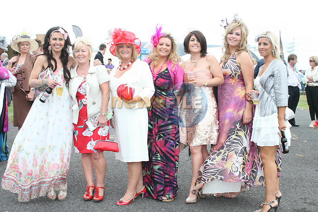 Denise Whearty, Catherine Rogers, Marianne Rogers, Finnoula Rogers, Pamela Brannigan, Aileen Sweeny and Melissa Whearty at the Bellewstown Races...Photo NEWSFILE/Jenny Matthews.(Photo credit should read Jenny Matthews/NEWSFILE)....This Picture has been sent you under the condtions enclosed by:.Newsfile Ltd..The Studio,.Millmount Abbey,.Drogheda,.Co Meath..Ireland..Tel: +353(0)41-9871240.Fax: +353(0)41-9871260.GSM: +353(0)86-2500958.email: pictures@newsfile.ie.www.newsfile.ie.FTP: 193.120.102.198.