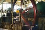 Interior of the Bellevue Rum Factory - spinng wheel