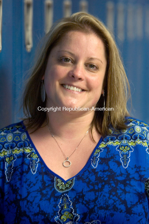 WINSTED CT. 15 June 2015-061515SV02-Debra Lewis, teacher, at the school in Winsted Monday. Lewis is The Gilbert School&rsquo;s teacher of the year.<br /> Steven Valenti Republican-American