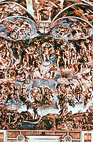 Renaissance Art: Michelangelo, The Last Judgment. Sistine Chapel, Vatican. Reference only.
