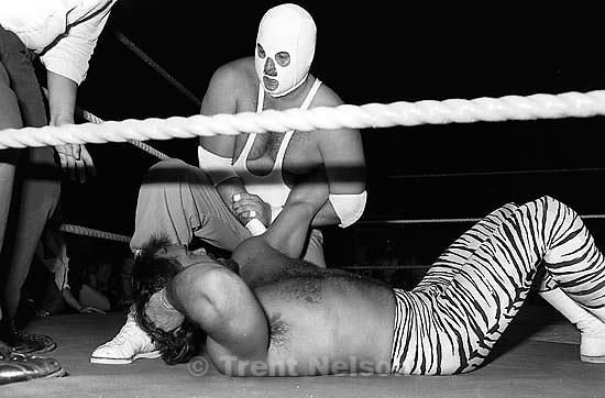 Pro wrestling match.<br />