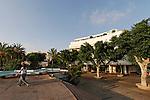 Israel, Tel Aviv. Hotel Cinema at Dizengoff Square, a Bauhaus style building