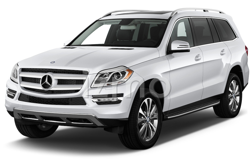 Front three quarter view of 2013 Mercedes GL Class SUV Stock Photo