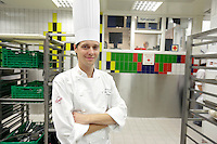 Assistant Chef Ronny Haug is responsible for the food served at the Nobel Peace Prize banquet at Grand Hotel Oslo, Norway.