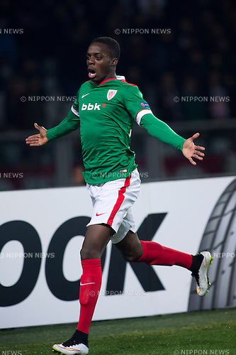 Inaki Williams (Bilbao), FEBRUARY 19, 2015 - Football / Soccer : Inaki Williams of Athletic Bilbao celebrates scoring the opening goal during the UEFA Europa League, round of 32 first leg match between Torino FC 2-2 Athletic Club Bilbao at Stadio Olimpico di Torino in Turin, Italy. (Photo by Maurizio Borsari/AFLO)