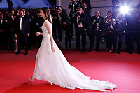 "Lily Collins leaves the ""Okja"" premiere during the 70th Cannes Film Festival at the Palais des Festivals on May 19, 2017 in Cannes, France. Credit: John Rasimus/MediaPunch ***FRANCE, SWEDEN, NORWAY, DENARK, FINLAND, USA, CZECH REPUBLIC, SOUTH AMERICA ONLY***"