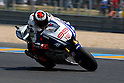 May 22, 2010 - Le Mans, France - Jorge Lorenzo powers his bike during a free practice prior the French Grand Prix at le Mans circuit, France, on May 22, 2010. (Photo Andrew Northcott/Nippon News).