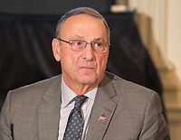 Paul Lepage, Governor of Maine participates in a meeting with state and local officials regarding the Trump infrastructure plan, February 12, 2018 at The White House in Washington, DC. <br /> CAP/MPI/CNP/RS<br /> &copy;RS/CNP/MPI/Capital Pictures