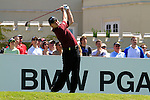 Paul Lawrie tees off from the 1st tee to start  Round 3 of the BMW PGA Championship at  Wentworth, Surrey, England, 22nd May 2010...Photo Golffile/Eoin Clarke.(Photo credit should read Eoin Clarke www.golffile.ie)....This Picture has been sent you under the condtions enclosed by:.Newsfile Ltd..The Studio,.Millmount Abbey,.Drogheda,.Co Meath..Ireland..Tel: +353(0)41-9871240.Fax: +353(0)41-9871260.GSM: +353(0)86-2500958.email: pictures@newsfile.ie.www.newsfile.ie.
