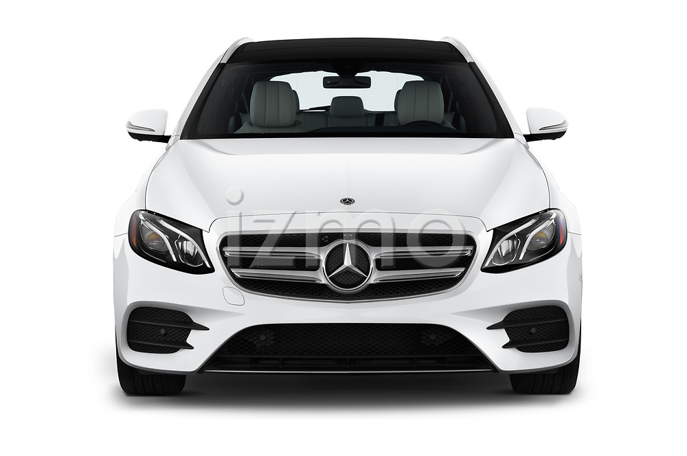 Car photography straight front view of a 2020 Mercedes Benz E-Class  E450 5 Door Wagon