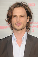 Matthew Gray Gubler at the premiere of Columbia Pictures' 'The Amazing Spider-Man' at the Regency Village Theatre on June 28, 2012 in Westwood, California. &copy; mpi35/MediaPunch Inc. /*NORTEPHOTO.COM*<br />