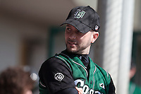11 April 2010: Olivier Berrebi of Montigny is seen in the dugout during game 1/week 1 of the French Elite season won 5-1 by Rouen over Montigny, at the Cougars Stadium in Montigny le Bretonneux, France.