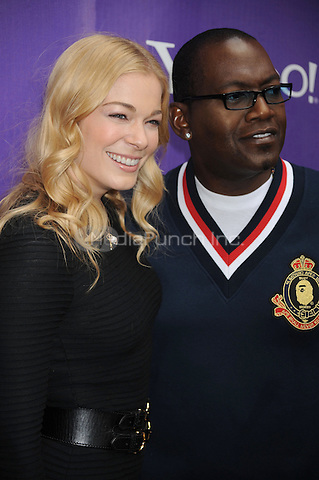LeAnn Rimes and Randy Jackson attend the It's Y!ou Yahoo! yodel competition at Military Island, Times Square  in New York City. October 13, 2009. Credit: Dennis Van Tine/MediaPunch