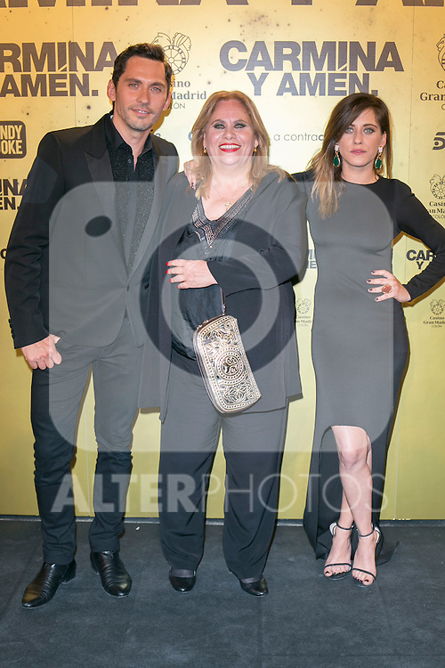 "Crew of the movie ""Carmina y Amen"", Paco Leon (Left) Carmina Barrios (Center) And Maria Leon (right)  attend the Premiere of the movie ""Carmina y Amen"" at the Callao Cinema in Madrid, Spain. April 28, 2014. (ALTERPHOTOS/Carlos Dafonte)"