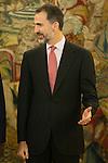 King Felipe VI of Spain receives Senegal Republic President, Mr. Macky Sall, during a Royal Audience at Zarzuela Palace in Madrid, Spain. December 15, 2014. (ALTERPHOTOS/Victor Blanco)