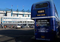 A general view of the Millwall bus seen during the Sky Bet Championship match between Millwall and Sheff United at The Den, London, England on 2 December 2017. Photo by Carlton Myrie / PRiME Media Images.