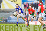 Brian McGuire Kerry in action against Alan Dillon Mayo in the National Football League in Austin Stack Park on Sunday..