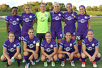 Piscataway, NJ - Wednesday Sept. 07, 2016: Orlando Pride starting eleven during a regular season National Women's Soccer League (NWSL) match between Sky Blue FC and the Orlando Pride FC at Yurcak Field.