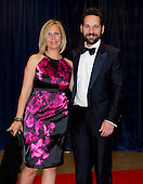Paul Rudd and his wife, Julie Yaeger, arrive for the 2012 White House Correspondents Association (WHCA) Annual Dinner at the Washington Hilton Hotel in Washington, D.C. on Saturday, April 28, 2012..Credit: Ron Sachs / CNP.(RESTRICTION: NO New York or New Jersey Newspapers or newspapers within a 75 mile radius of New York City)