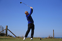 Tom Hamson during Round Two of the West of England Championship 2016, at Royal North Devon Golf Club, Westward Ho!, Devon  23/04/2016. Picture: Golffile | David Lloyd<br /> <br /> All photos usage must carry mandatory copyright credit (&copy; Golffile | David Lloyd)