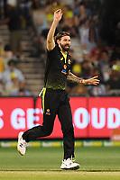 1st November 2019; Melbourne Cricket Ground, Melbourne, Victoria, Australia; International T20 Cricket, Australia versus Sri Lanka; Kane Richardson of Australia celebrates a wicket - Editorial Use