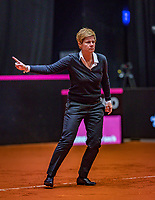 Den Bosch, The Netherlands, Februari 9, 2019,  Maaspoort , FedCup  Netherlands - Canada, second match : Umpire overules<br /> Photo: Tennisimages/Henk Koster