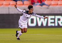 HOUSTON, TX - JANUARY 28: Katherine Castillo #8 of Panama celebrates during a game between Costa Rica and Panama at BBVA Stadium on January 28, 2020 in Houston, Texas.