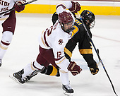 Mike Booth (BC - 12), Andrew Farny (CC - 39) - The Boston College Eagles defeated the visiting Colorado College Tigers 4-1 on Friday, October 21, 2016, at Kelley Rink in Conte Forum in Chestnut Hill, Massachusetts.The Boston College Eagles defeated the visiting Colorado College Tiger 4-1 on Friday, October 21, 2016, at Kelley Rink in Conte Forum in Chestnut Hill, Massachusett.