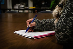NAUGATUCK, CT. 20 December 2018-122018 - A person takes down notes during a suicide training class at the Naugatuck Youth Services in Naugatuck on Thursday. Bill Shettle Republican-American
