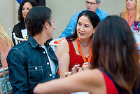 Occidental College alumni meet again and celebrate at their class dinner during Alumni Reunion Weekend, June 11, 2016.<br /> (Photo by Don Milici, Freelance Photographer)