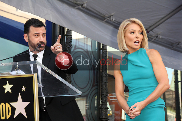Jimmy Kimmel, Kelly Ripa<br /> at the Kelly Ripa Star on the Hollywood Walk of Fame, Hollywood, CA 10-12-15<br /> David Edwards/Dailyceleb.com 818-249-4998