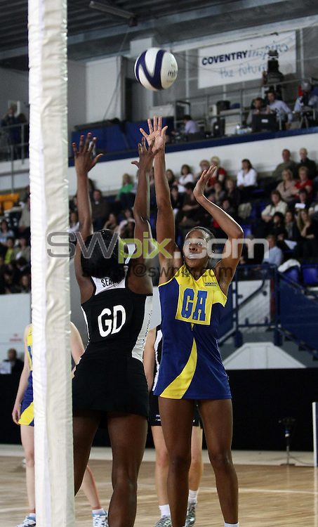 PICTURE BY VAUGHN RIDLEY/SWPIX.COM - Netball - Co-operative Superleague Grand Final - Skydome Arena, Coventry, England - 04/04/09...Copyright - Simon Wilkinson - 07811267706...Bath's Pamela Cookey.