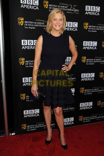 Anna Gunn.BAFTA LA TV Tea 2012 Presented by BBC America held at The London Hotel,  West Hollywood, California USA..22nd September 2012.full length dress sleeveless hand on hip black.CAP/ADM/BP.©Byron Purvis/AdMedia/Capital Pictures.