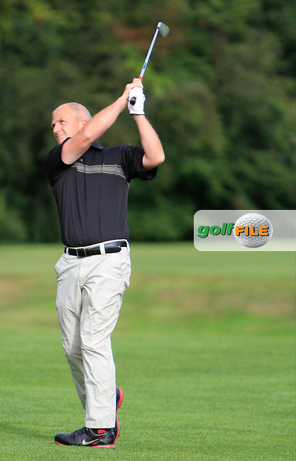 Alan Condren (Greystones) on the 5th fairway during the Leinster Mid Amateur Open Championship 2013 Round 3 in the Grange Golf Club on the 10th August 2013 <br /> Picture:  Thos Caffrey / www.golffile.ie