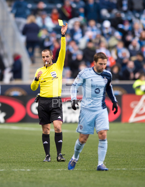 Mark Geiger.  Sporting Kansas City defeated Philadelphia Union, 3-1. at PPL Park in Chester, PA.