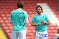 Blackburn Rovers' Bradley Dack chats with Danny Graham during the pre-match warm-up <br /> <br /> Photographer Kevin Barnes/CameraSport<br /> <br /> The EFL Sky Bet Championship - Blackburn Rovers v Bolton Wanderers - Monday 22nd April 2019 - Ewood Park - Blackburn<br /> <br /> World Copyright © 2019 CameraSport. All rights reserved. 43 Linden Ave. Countesthorpe. Leicester. England. LE8 5PG - Tel: +44 (0) 116 277 4147 - admin@camerasport.com - www.camerasport.com