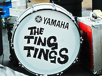 The Ting Tings Bass Drum on Stage at The Pool Parties, McCarren Park , Brooklyn NYC