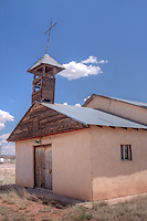 Old church in Newkirk New Mexico on route 66.